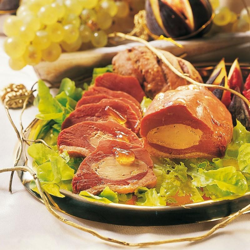Le Magret de Canard Entier Fourré au Foie de Canard (20 %) en Gelée