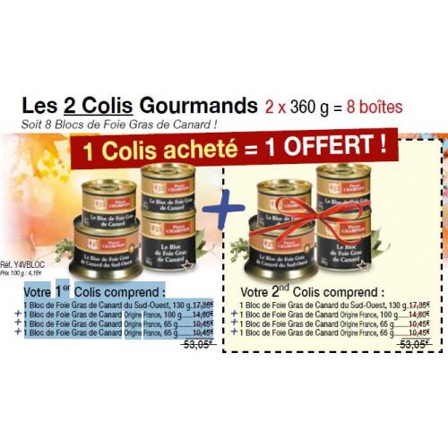 Les 2 Colis Gourmands 2 x 360 g - WBA