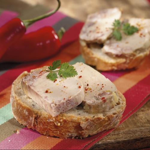 Le lot de 2 Terrines au Foie de Canard et au Piment d'Espelette (20% Foie Gras de Canard) - 65 g - WBB