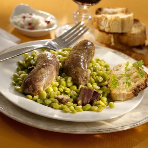Les Saucisses de Canard aux Pois Cassés - WFH