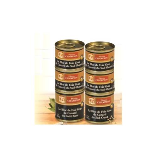 Le Colis Gourmand 6 Blocs de Foie Gras de Canard du Sud-Ouest 460 g - WVC