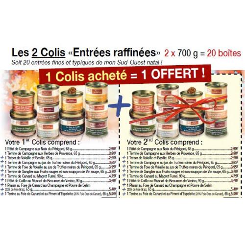 """Les 2 Colis """"Entrées Raffinées"""" 2 x 700 g"""