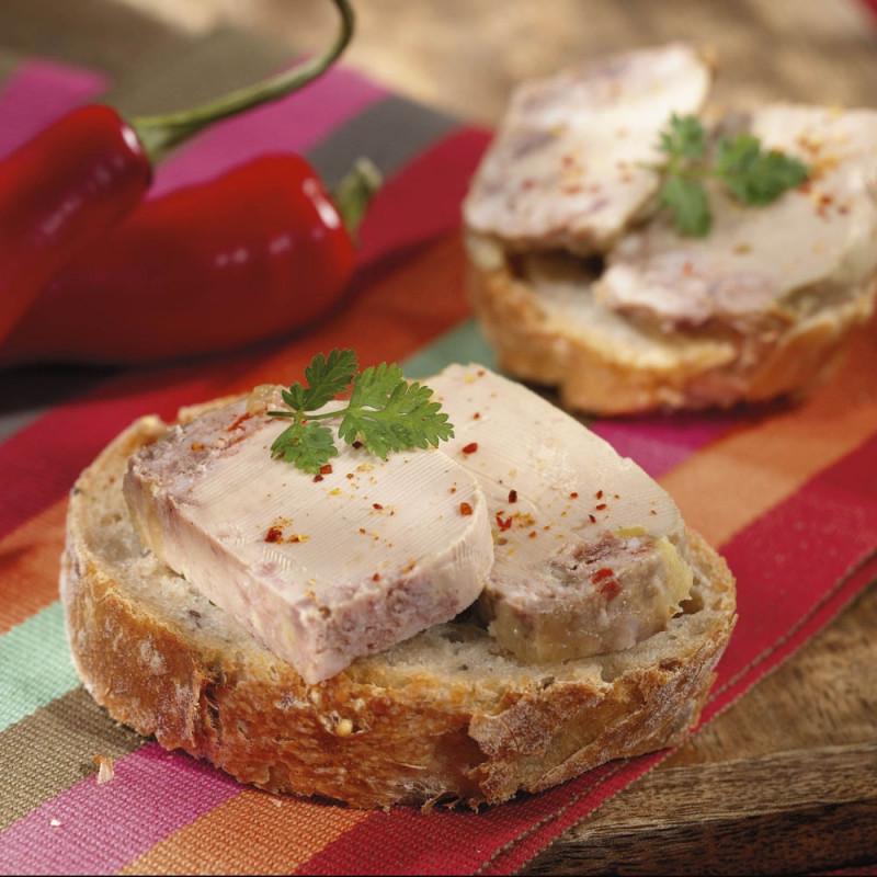 Le lot de 2 Terrines au Foie de Canard et au Piment d'Espelette (20% Foie Gras de Canard) - 65 g