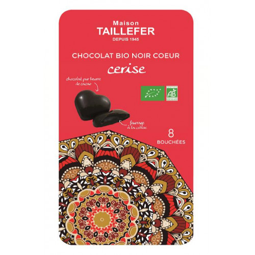La Tablette 8 bouchées BIO chocolat noir cerise - WRS