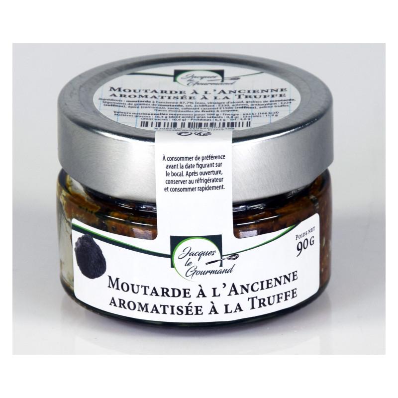 Moutarde à l'Ancienne Aromatisée à la Truffe 90 g - WFO