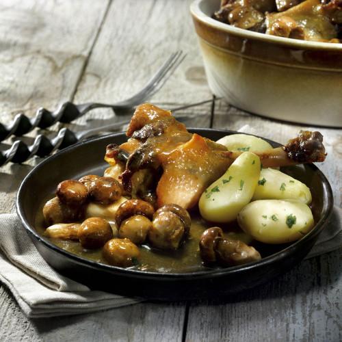 Le Plaisir au Foie d'Oie, à la Figue et Vin Doux Blanc du Périgord + Le Canard Cuisiné aux Cèpes - WFF