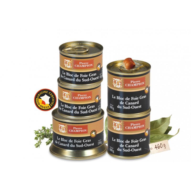 Votre Colis « 5 Blocs de Foie Gras de Canard du Sud-Ouest »