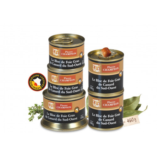 Votre Colis « 5 Blocs de Foie Gras de Canard du Sud-Ouest » -  WRD
