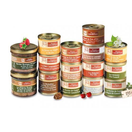 Colis « 15 Délices au Foie Gras & Terrines » 895 g - WFG