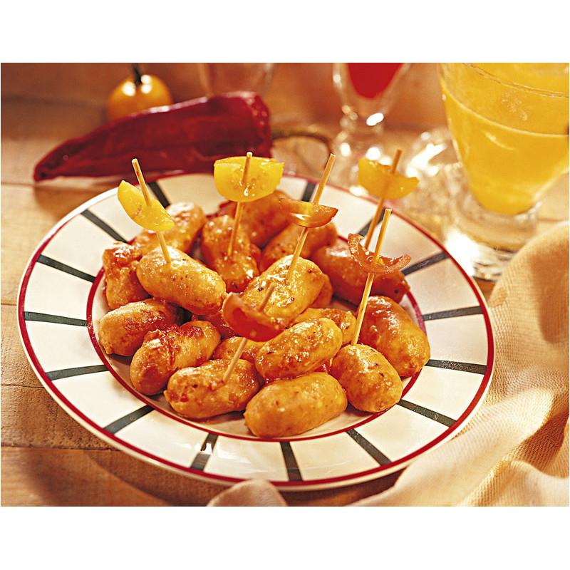 Lot de 2 : Les Petits Boudins Blancs au Sauternes + Les Petites Saucisses Cocktail au Piment d'Espelette