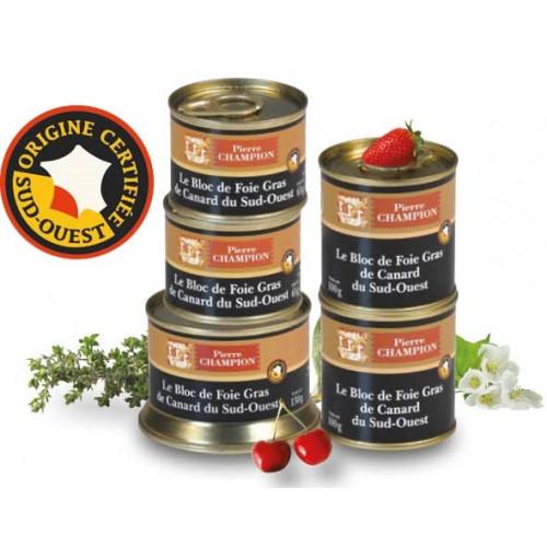 Colis 5 Blocs de Foie Gras de Canard du Sud-Ouest » 460 g