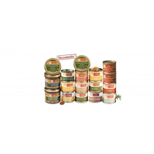 """Votre colis """"17 Délices au Foie gras et Entrées Découverte de nos Régions"""" 1,205 kg - WFK"""