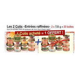 Les 2 Colis «Entrées raffinées» 2 x 725 g (20 boîtes) - WBB