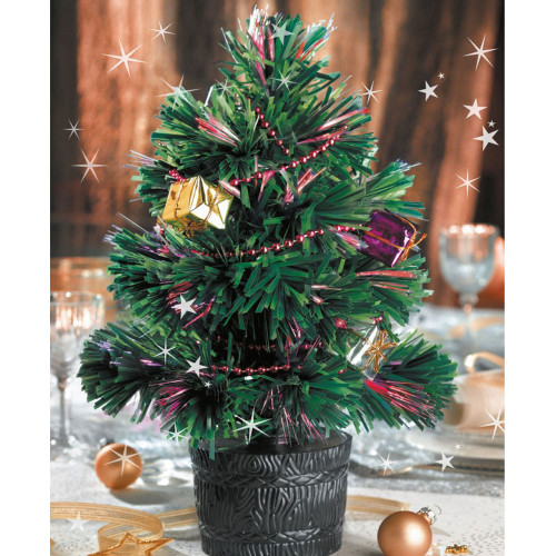 L'adorable sapin de table « Merry Christmas » lumineux - WFU