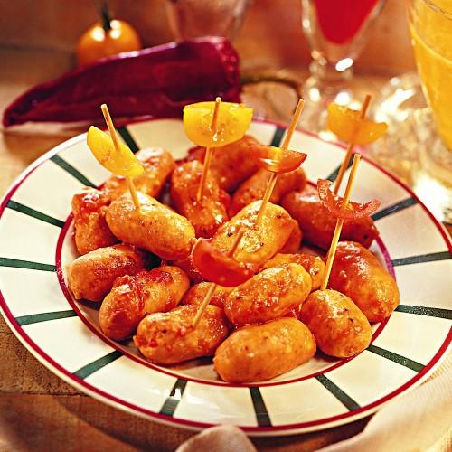 """Le Lot de 2 """"Les Petites Saucisses Cocktail au Piment d'Espelette"""" - 200 g - WFB"""