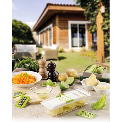 """La mandoline de cuisine 6 en 1 multifonction """"Green Kitchen"""" - WFY2020"""