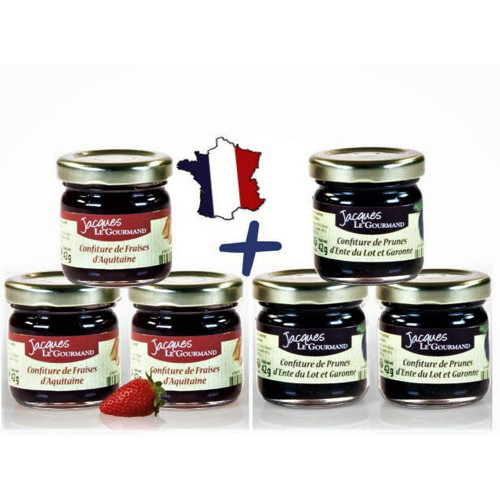 Lot de 6 L'Assortiment de Confitures Gourmandes 252 G - WMAI