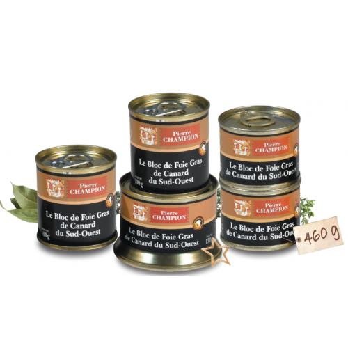 VOTRE COLIS GOURMAND « 5 Blocs de Foie Gras de Canard du Sud-Ouest » 460 g - WFE