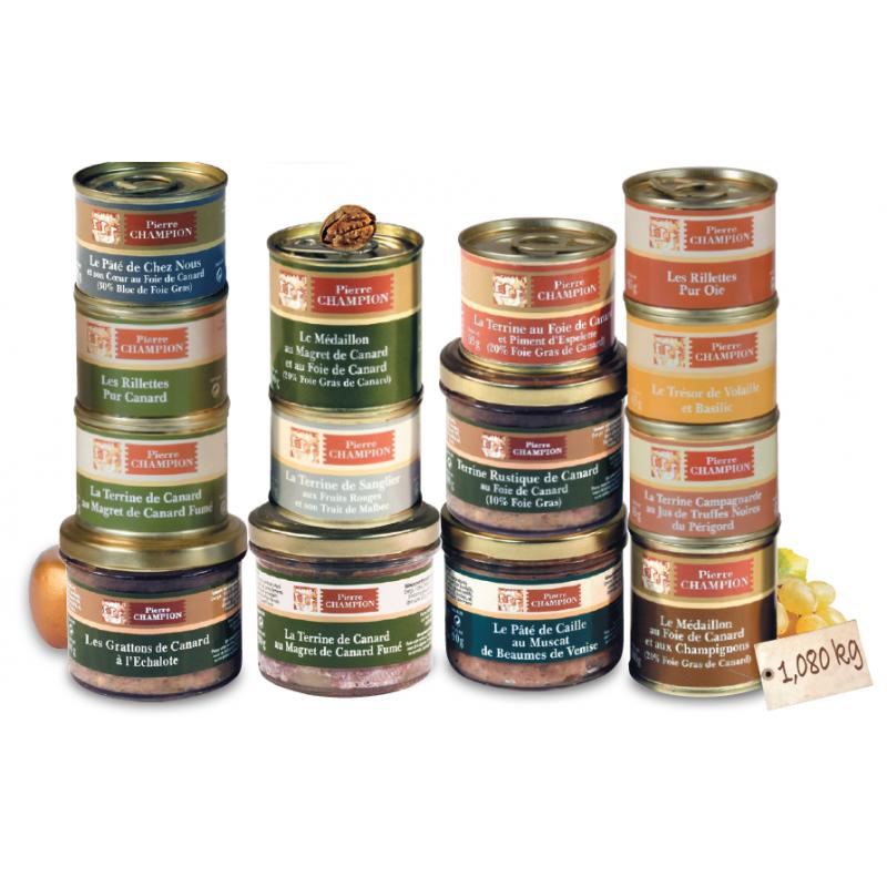 Votre Colis 14 Terrines et Délices au Foie gras - 1080 g
