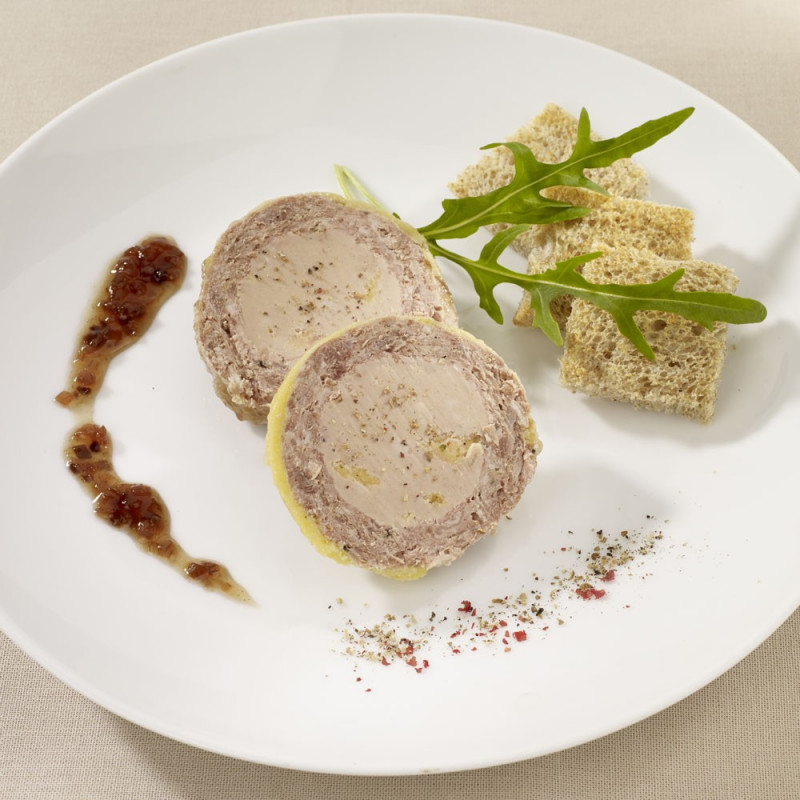 Le Pâté de chez Nous et son Coeur au foie de Canard (30 % Bloc de Foie Gras)