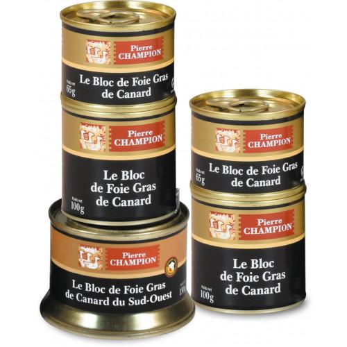 Votre Colis « 5 Blocs de Foie Gras de Canard Origine France et Sud-Ouest » -CAT