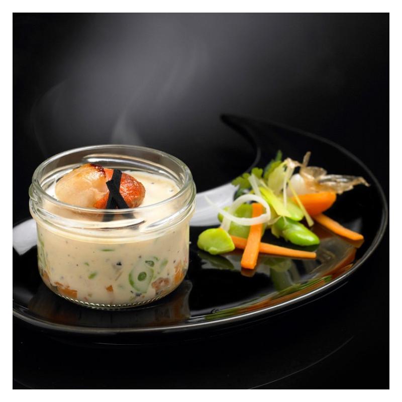 Mini Cassolette de Saint-Jacques, Brunoise de Légumes, Sauce au Jus de Truffe Noire 3% et Truffe Noire 1%
