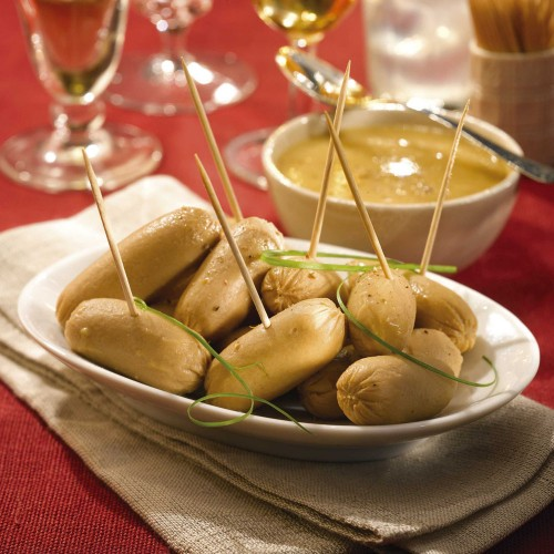 Les Petits Boudins Blancs au Sauternes en Sauce au Foie de Canard (20% de Foie Gras) - WAE