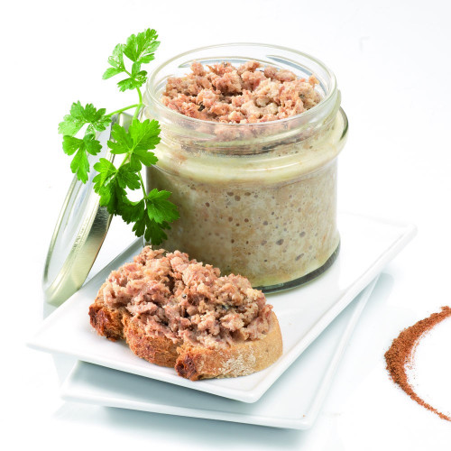 Le Lot de 2 : La Terrine Rustique de Canard au Foie de Canard (10 % de Foie Gras) - WAI
