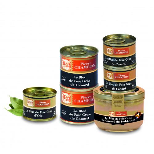 Votre Colis Découverte Blocs de Foie Gras : Assortiments de 6 spécialités - WVC3