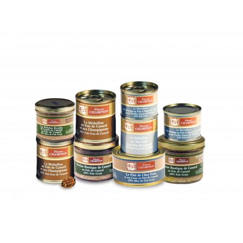 Votre Colis Découverte Délices au Foie Gras : Assortiment de 9 spécialités - WVC3