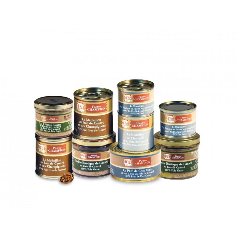 Votre Colis Découverte Délices au Foie Gras : Assortiment de 9 spécialités