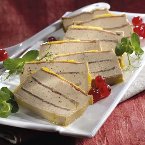 Le Mille-Feuille de Jambon de Canard au Foie de Canard