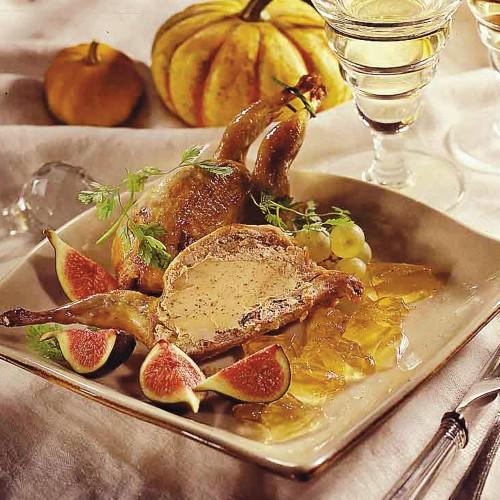 La Caille Farcie au foie de canard 20 % en Gelée - 200 g - CAT