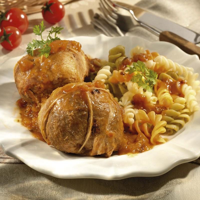 Les Paupiettes de Porc aux Tomates  aromatisées au Thym