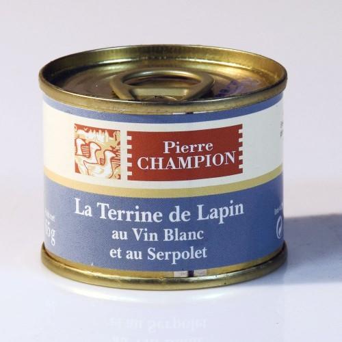 La Terrine de Lapin au Vin Blanc et au Serpolet 65g - WEBD