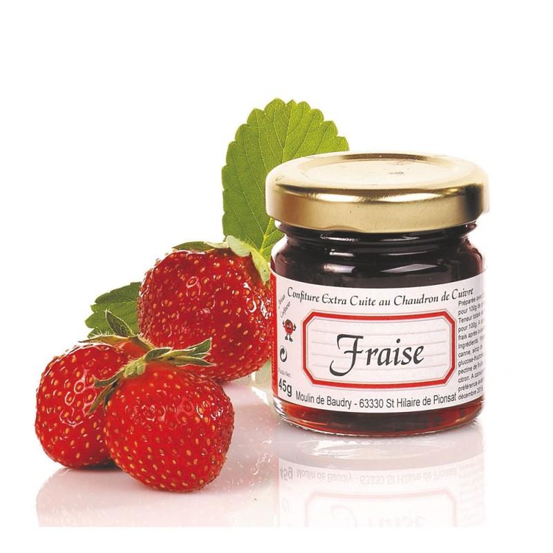 confiture de fraise cuite au chaudron