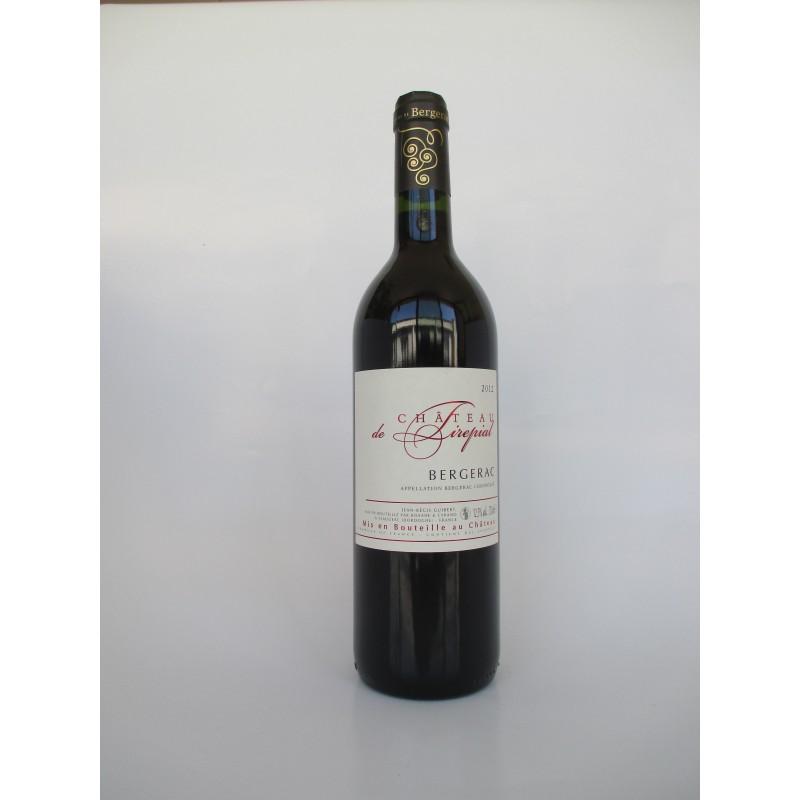 Bergerac rouge Château Tirepial La bouteille de 75 cl