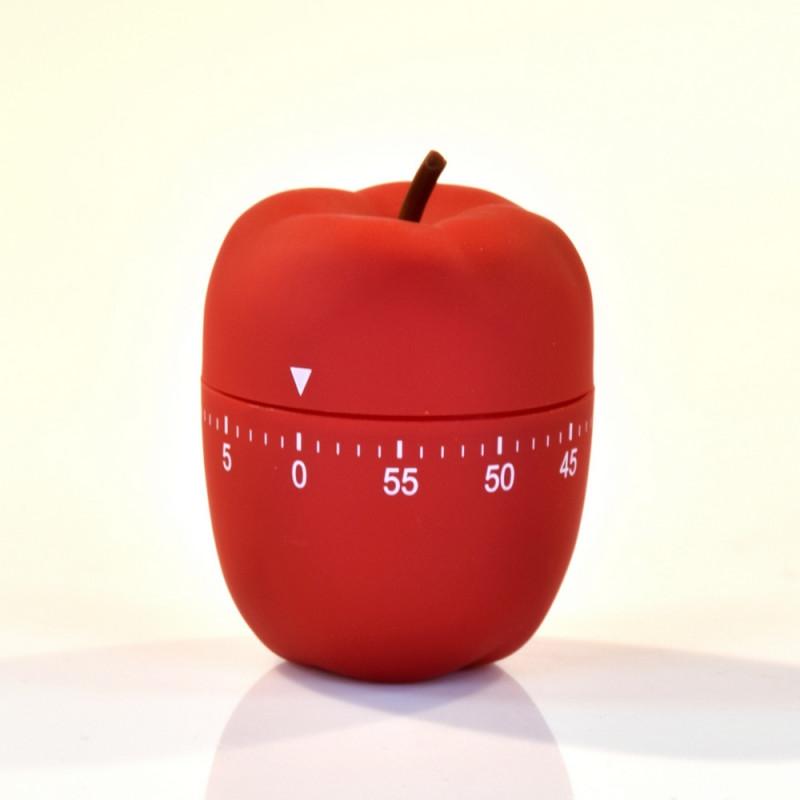 Le Minuteur de Cuisine et Forme de Pomme Rouge